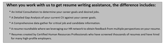 Resume Writing Service tHRive your human resources partners